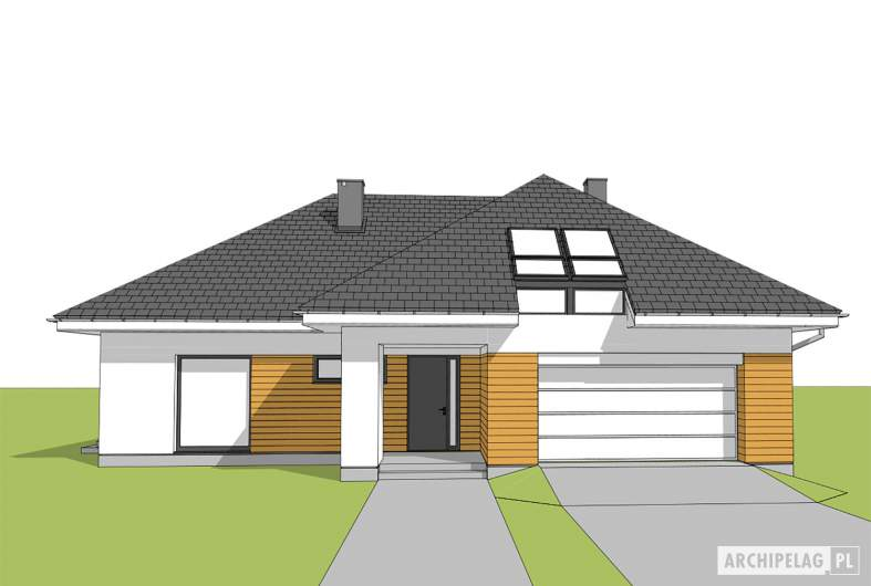 Projekt domu Olaf G2 01 - widok frontowy