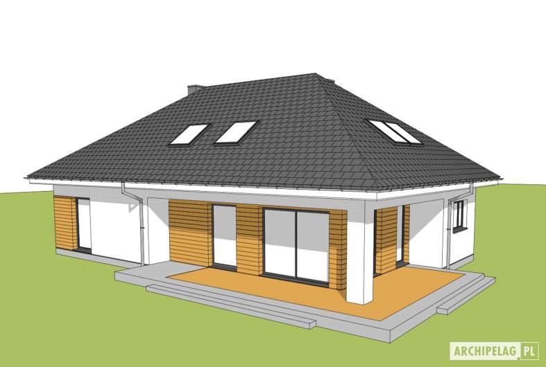 Projekt domu Olaf G2 01 - widok z góry