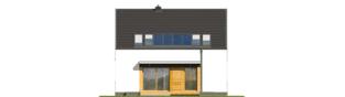 Projekt domu E12 ENERGO PLUS - elewacja tylna