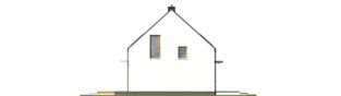 Projekt domu E12 ENERGO PLUS - elewacja lewa