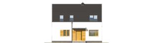 Projekt domu E12 ENERGO PLUS - elewacja frontowa