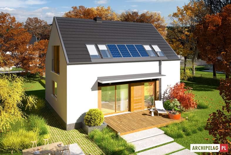Projekt domu E12 ENERGO PLUS - widok z góry