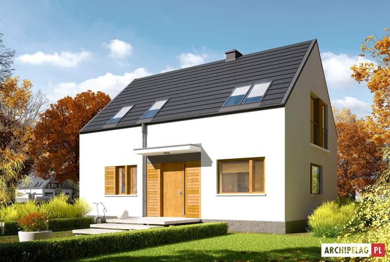 Projekt domu E12 ENERGO PLUS - wizualizacja frontowa