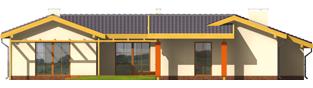Projekt domu Sabina G2 - elewacja tylna