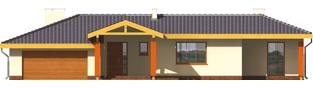 Projekt domu Sabina G2 - elewacja frontowa