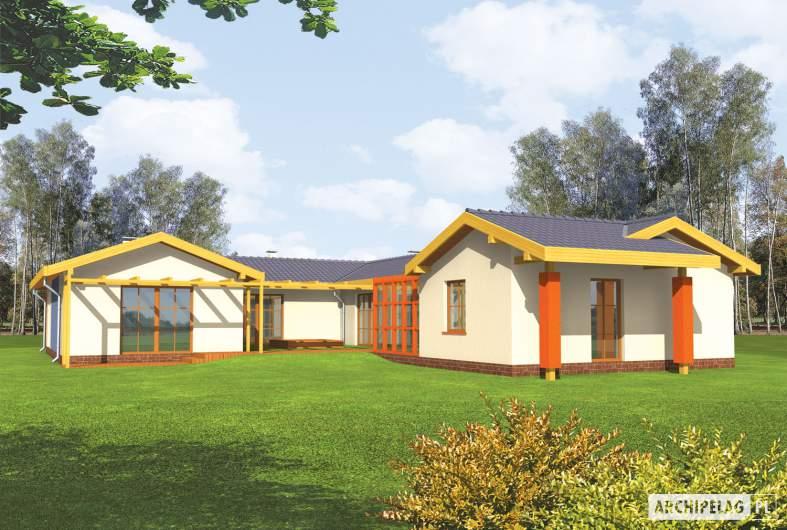 Projekt domu Sabina G2 - wizualizacja ogrodowa