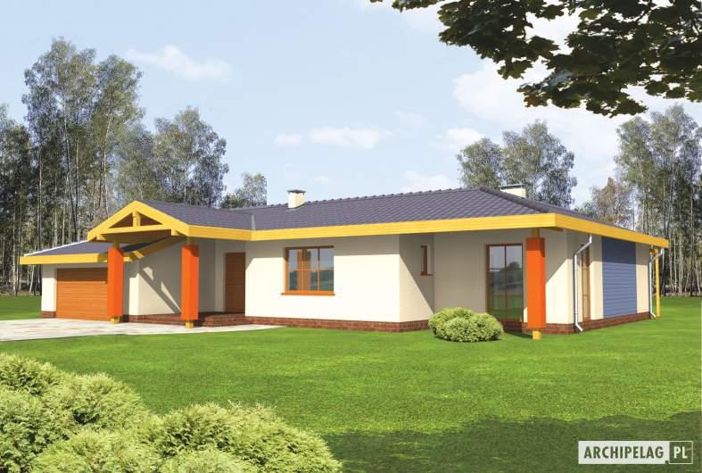 Projekt domu Sabina G2 - wizualizacja frontowa