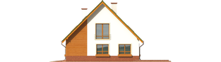 Projekt domu Kika G2 - elewacja prawa