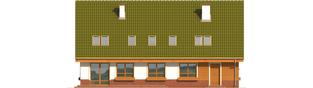 Projekt domu Kika G2 - elewacja tylna