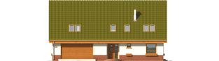 Projekt domu Kika G2 - elewacja frontowa