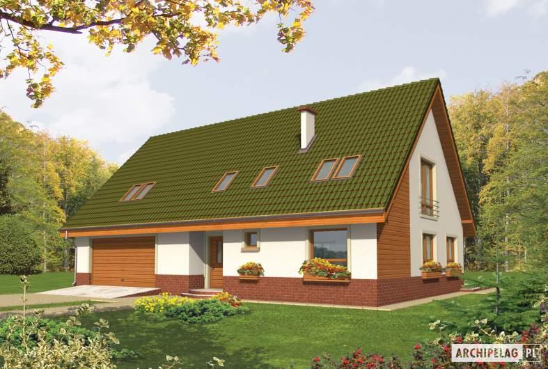 Projekt domu Kika G2 - wizualizacja frontowa