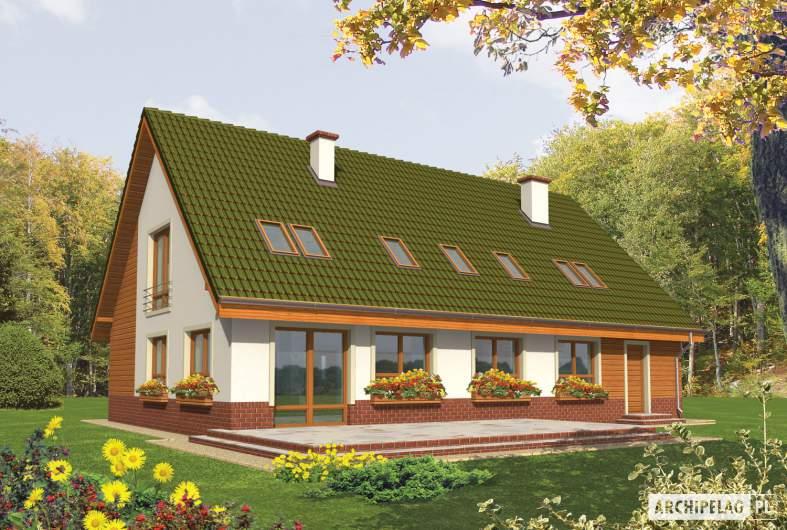 Projekt domu Kika G2 - wizualizacja ogrodowa
