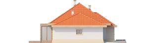 Projekt domu Celesta G1 - elewacja lewa