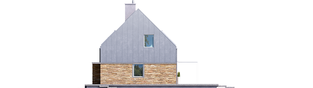 Projekt domu EX 16 soft - elewacja prawa