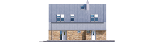 Projekt domu EX 16 soft - elewacja frontowa