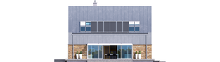 Projekt domu EX 16 soft - elewacja tylna
