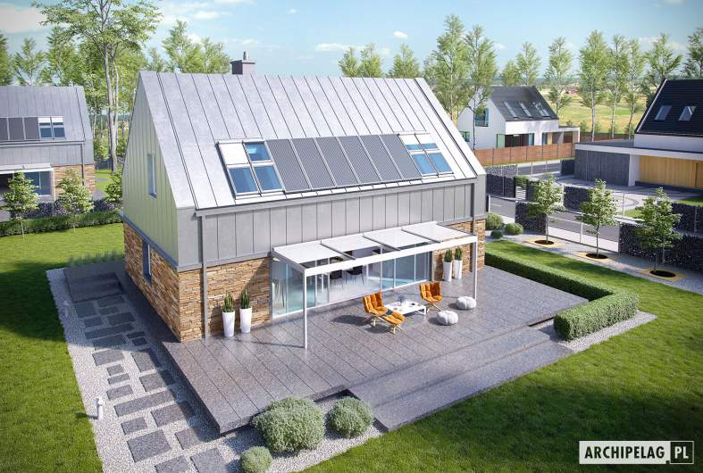 Projekt domu EX 16 soft - widok z góry
