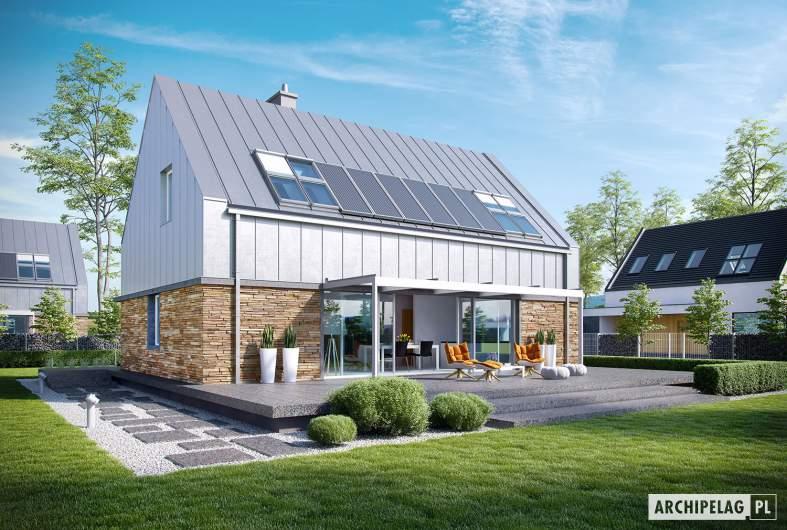 Projekt domu EX 16 soft - wizualizacja ogrodowa