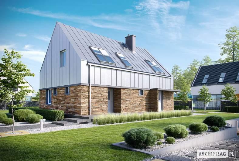 Projekt domu EX 16 soft - wizualizacja frontowa