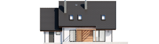 Projekt domu Mini 8 G1 - elewacja tylna