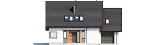 Projekt domu Mini 8 G1 - elewacja frontowa
