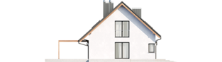 Projekt domu Mini 8 G1 - elewacja lewa