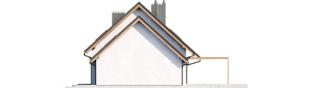 Projekt domu Mini 8 G1 - elewacja prawa