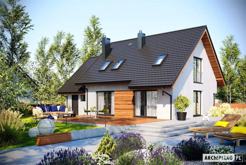 Projekt domu Mini 8 G1 - wizualizacja ogrodowa