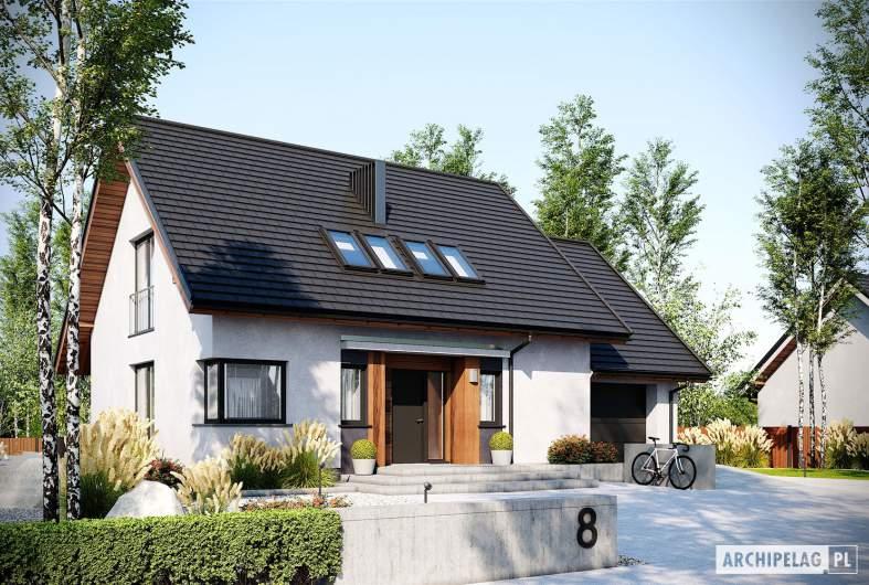 Projekt domu Mini 8 G1 - wizualizacja frontowa