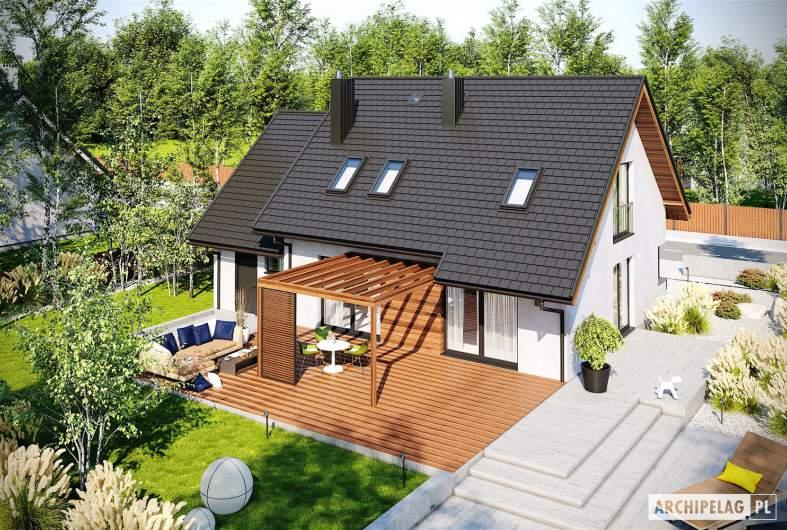 Projekt domu Mini 8 G1 - widok z góry