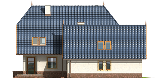 Oksana G2 - Projekt domu Oksana G2 - elewacja lewa