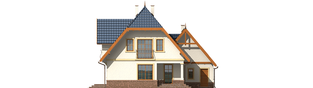 Projekt domu Oksana G2 - elewacja tylna