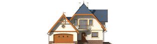 Projekt domu Oksana G2 - elewacja frontowa