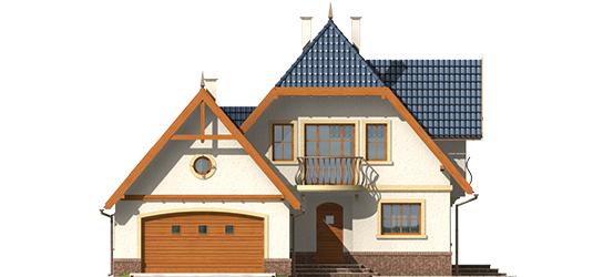 Oksana G2 - Projekt domu Oksana G2 - elewacja frontowa