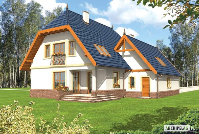 Projekt domu Oksana G2 - wizualizacja ogrodowa