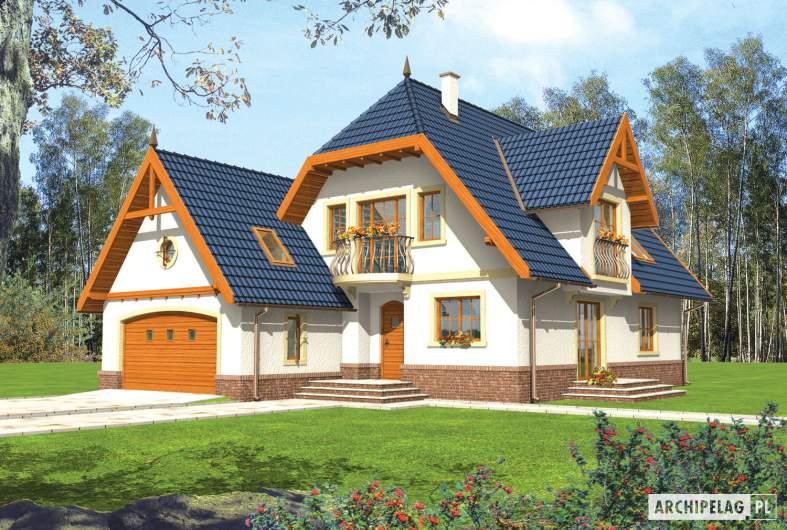 Projekt domu Oksana G2 - wizualizacja frontowa