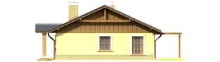 Projekt domu Bogna II - elewacja prawa