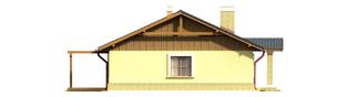 Projekt domu Bogna II - elewacja lewa