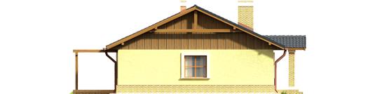 Bogna II - Projekt domu Bogna II - elewacja lewa