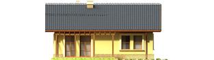 Projekt domu Bogna II - elewacja tylna
