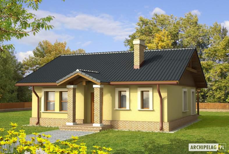 Projekt domu Bogna II - wizualizacja frontowa