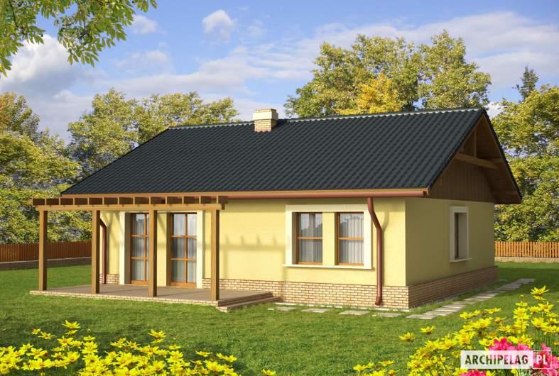 Projekt domu Bogna II - wizualizacja ogrodowa