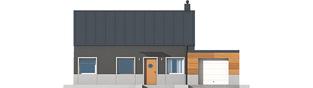 Projekt domu Edwin II G1 ENERGO - elewacja frontowa