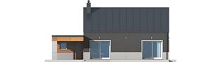Projekt domu Edwin II G1 ENERGO - elewacja tylna
