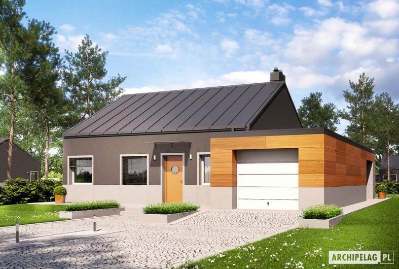 Projekt domu Edwin II G1 ENERGO - wizualizacja frontowa