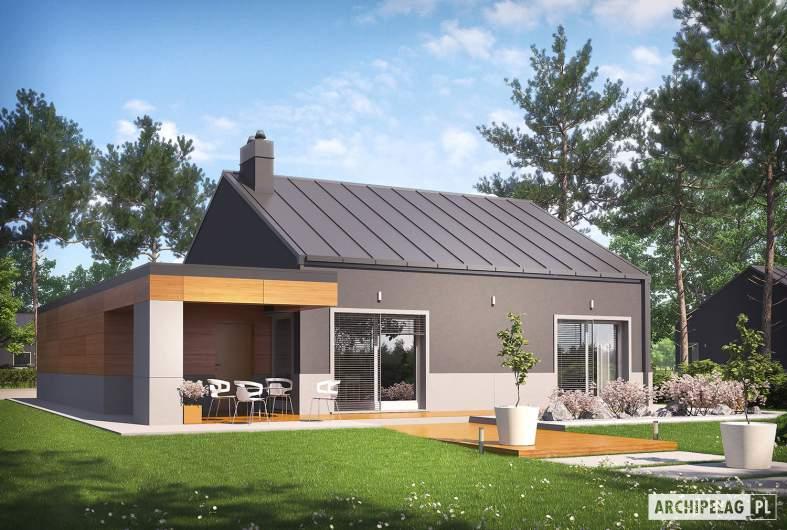 Projekt domu Edwin II G1 ENERGO - wizualizacja ogrodowa