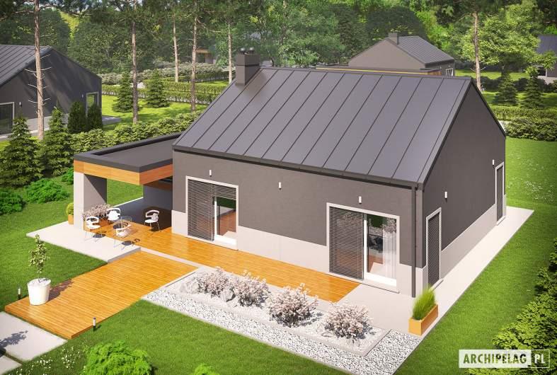 Projekt domu Edwin II G1 ENERGO - widok z góry