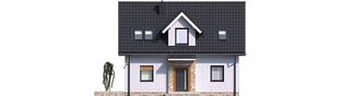 Projekt domu Witek - elewacja frontowa