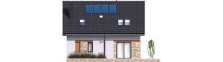Projekt domu Witek - elewacja tylna