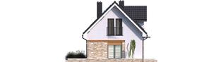 Projekt domu Witek - elewacja lewa